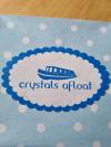 Crystals afloat